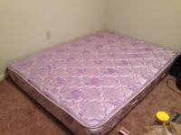 queen mattress, without the box spring.