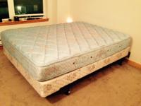 Selling a queen size pillow top mattress and box spring