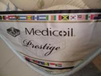 Description Therapedic plush mattress and boxspring.
