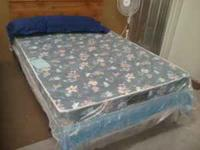 All new in plastic a basic queen mattress set, includes
