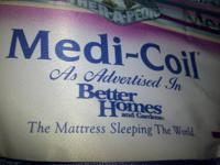 For sale is matching Queen boxspring & Medi-Coil