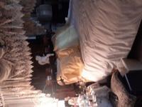 QUEEN Sized Canopy Bed. Beautiful & unique Dark Walnut