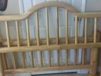 Excellent quality solid oak queen size headboard and
