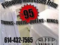 Brand new in plastic queen pillow top mattress This