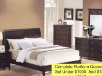 Fantastic buy on this cappuccino bedroom set. Set