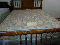 Queen Size Sleigh bed frame with Queen size sealy