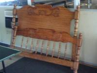 Queen size bed headboard,footboard,and rails $60 Call