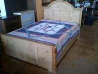 Beautiful wood frame, headboard and foot board complete