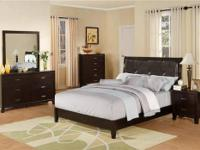 Chelsie Bedroom Collection * Dark espresso finish. *
