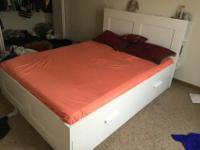 iKEA Queen size bed, only like a year old. Excellent