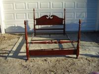 This is a solid mahogany queen size se. Has been
