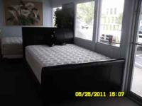 Beautiful queen size headboard/footboard. Dark Brown