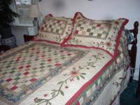 Nice quilt covers Queen Size/ double bed. My wife no