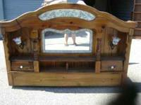 Queen size waterbed, underneath drawers, includes