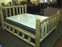 This is a queen sized, hand crafted swinging bed. Let