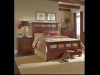 Solid wood queen bed frame. Bed comes with real slate