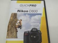 Like New Quickpro Nikon D800 Instructional DVD. These