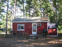 This is a 4 room cabin in the woods of Brownfield. It