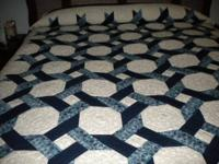 Hand quilted and device pieced by Piecemakers. Shades