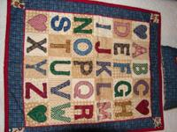 Learn Your ABC's Doll quilt & Pillow. Great for