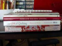 7 quilting books for sale as a group. Titles are: