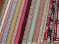 lots of quilting fabric, baby flannel, aunt grace,