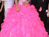 Beautiful Quinceaera  fuchsia Pink dress Perfect