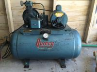 ** $220.00 ** 1966 Quincy Model x2 Air Compressor Works