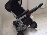 used black Quinny Buzz 3 in 1 travel system the carry