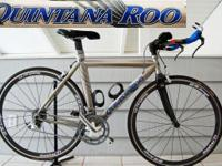 This is a Quintana Roo Titanium Ti-Phoon Triathlon/Road
