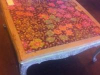 We simply adore this wonderfully repainted table! It