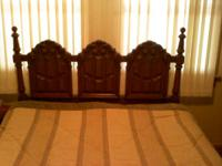 Older queen bedroom set. Includes headboard, frame,
