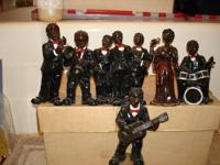 Kool Jazz Or Rhythm & Blues 6 Figurines(8 Members) !
