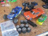 hpi rs4 evo with lots of extras and 2.4 futaba a rc10gt