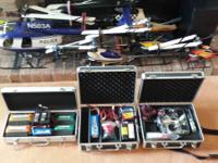 Up for sale is my R/C Heli collection +. I am preparing