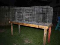 We make a variety of cages, including rabbit cages on