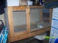 My husband built a large cage to hold a rabbit that we