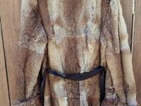 Rabbit Fir 3/4 Length Coat. Good condition. Attached