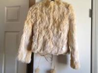 Beautiful Rabbit Fur Coat for sale $100! Purchased from