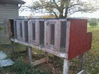 I have two covered rabbit hutches for sale. First one