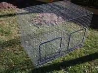 Double Rabbit Cage for sale. Overall length is 3 feet