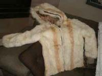 $119 for a rabbit fur jacket, hooded and lined, with a