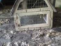 Nice, solid wooden rabbit hutch for sale. Has opening