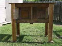 Rabbit hutch for sale .....Holds 2 regular size