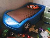 Very nice Little tikes racecar bed! $80 obo includes