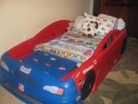 Race Car (Stock Car) Convertible Bed * Easily converts