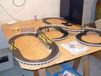 For sale is an HO Scale, Electric Slot Car race track.