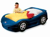 Hi, We are selling our son's blue racecar bed as he has
