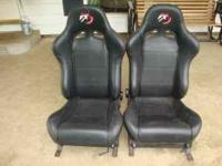 Up for sale is a pair of black Vinyl Racing seats. i