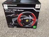 Xbox One Ferrari 458 Spider Racing Wheel. Never been